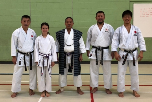With Imura Sensei, Ohta Sensei and Kurihara Sensei (the current World Kata Champion)