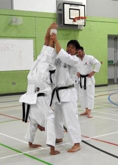 Imura Sensei doing a hand stand!